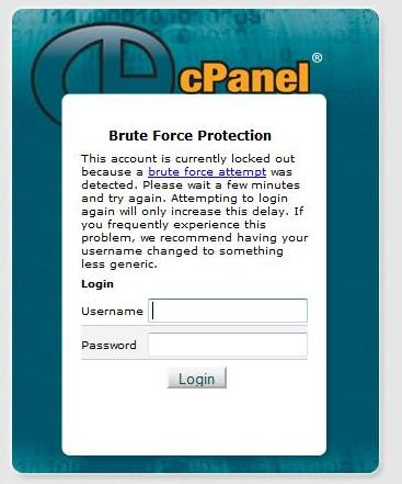 Brute Force Protection Hatası Çözümü